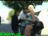 Hot blonde bitch fucked in public