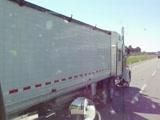 Lady trucker flashing tits