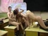 Amateur Russian Teen Schoolgirls in sex ed with their teacher and
