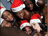 Santa hoes eatin Brotha's BIG cock in X-mas PIMPin party!