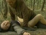 Asian Teen Brutally fucked in the woods