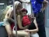 Orgy on a train during the Berlin Sex Parade