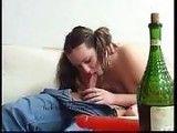 Old pervert get drunk little teen to fuck her