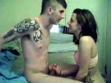 Hot amateur chick blows and fucks