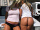 2 Hot Canadian Blondes In Funny Shirts