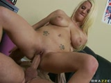 Big titted Haley taking a BIG dick