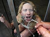 Blonde slave got shot with too much cumshots
