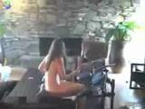 Naked mom playing Rock Band