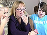 Mom and stepdaughters surprised