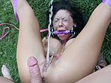 Busty hoe squirtin the second cock goes into her deep end