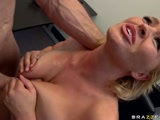 Krissy uses her TITS to get a job