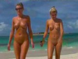 Crazy Naked Girls Having Fun At The Beach