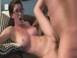 Hot Amber rides dick