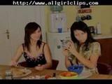Brunette Teen Lesbian  lesbian girl on gi ...
