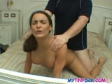 Skinny chick banged by the guy with the smallest dick