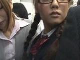 Schoolgirl lesbian Reluctant public Orgasm