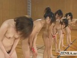 Weird bizarre Japanese group vibrator squatting game