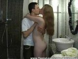 Amateur teenagers 20- yr made xxx video in bathroom