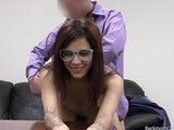 Teen Nerd's First Creampie
