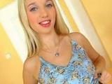 Skinny bimbo blonde teen nailed