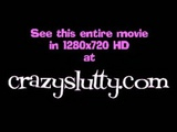 CrazySlutty throatfucked and facialed while she cums!