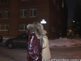 Cutie gets cold and gets fucked