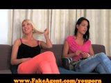 FakeAgent Two girls make me cum quick!