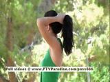 Kirsten Superb Brunette Girl Public Posing Pussy