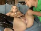Alexis Texas in latex chaps