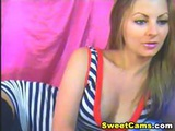 Gorgeous Blond Babe Striptease Hd