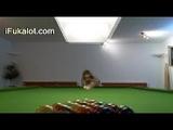 Two Lezzies Masturbation On Billiard