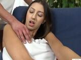Busty Kitty Jane gets a taste of cum