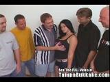 Busty Teen(18+) Has Her 1St Tampa Bukkake