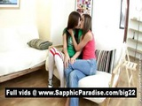 Adorable Blonde And Brunette Lesbians Kissing And Getting Naked And Having Lesbian Sex