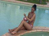 Pavlina enjoys the pool - FBA Publications