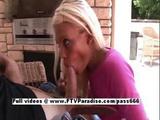 Stunning Kori Blonde Girl Blowjobs And Gagging