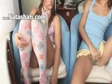 Two Cuties Fingering On The Sofa