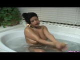 Hot Latina In A Bathtub