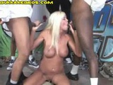 Blacks Down a Cougar Throat