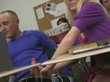 College couple having sex in class