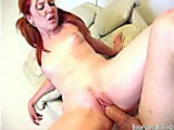 19 Year old Petite Redhead Drilled by Big Thick Cock