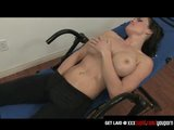 Fitness Buff Gets Horny and Rubs Her Pussy