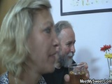 Blonde GF Having Nasty Threesome Sex With BFs Parents