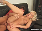 Hot blonde mom with round tits gets fucked