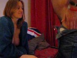 British chick sucking BFs cock