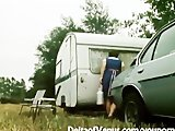 Retro Porn 1970s - Hot & Hairy Brunette Girl Gets Fucked in Camper