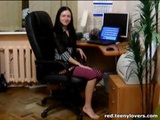 Cultivated Sister With An Exuberant Honey Pot Does It In The Office