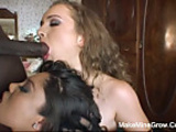 Two Hot Babes Shared In One Huge Cock