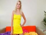 Horny Blonde Making Vibrator Show