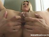 Blonde Anal Sex Creampie in her ass